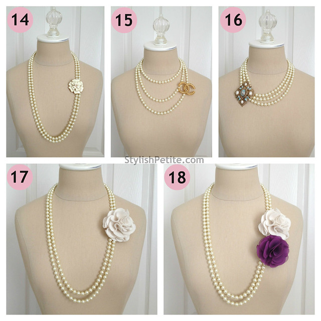 "How to wear a 60"" Pearl Necklace 21 ways5"