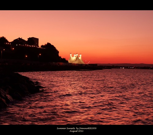 pink sunset red sea summer sky holiday seascape nature water evening bulgaria nessebar neseber nesseber nesebur theblacksea