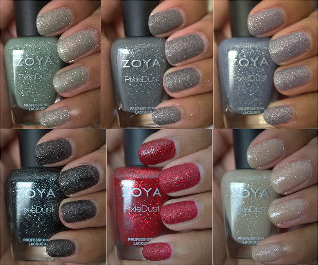 Zoya PixieDust nail polish collection
