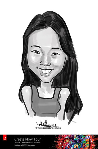 digital caricature for Adobe Create Now Tour - Stephanie Lim