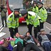"A ""die-in"" for the NHS, on the road in front of Parliament"