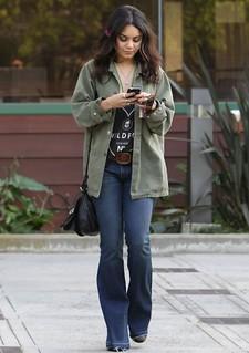 Vanessa Hudgens Flared Jeans Celebrity Style Women's Fashion