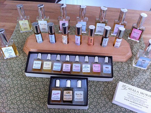 Ayala Moriel Parfums display at Alembique - notice the new packaging!