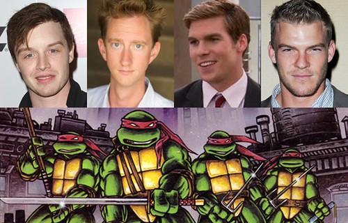 130329(4) - 全新電影《忍者龜 Ninja Turtles》將在2014/6/6上映、一女加四隻主角在開拍第一週全到齊!