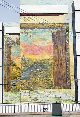 Murales Artísticos de Estepona (Spain): Tiempos de Claridad (Times of Clarity) by Ana Cecilia Salinas