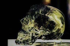 crystal skull at Houston Museum Of Natural Science