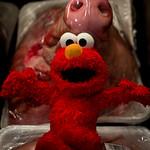Elmo visits his favorite butcher!!