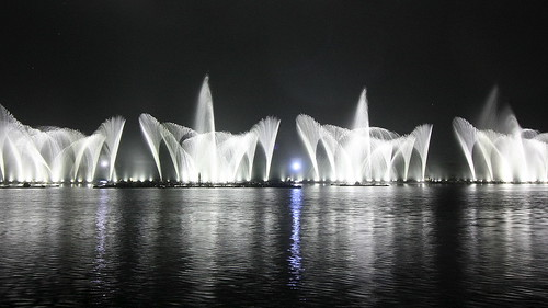 Fountain show Aamby valley city.