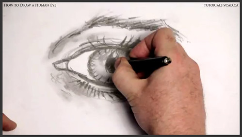 learn how to draw a human eye 023