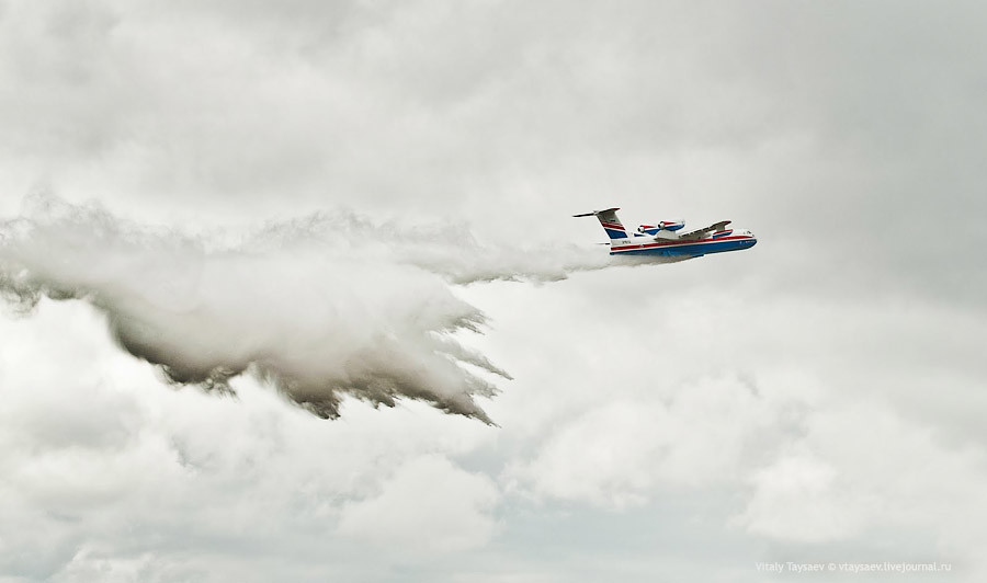 Beriev B-200 russian firefighter