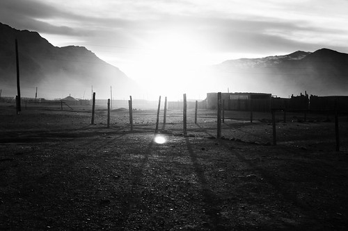 bw mountains clouds sunrise landscape village smoke freezing mongolia bayanulgii canon5dmk2 mygearandme
