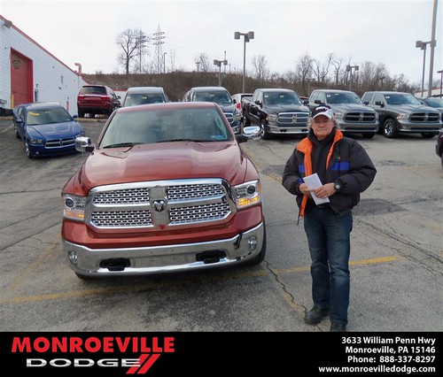 Congratulations to Ronald Argo on the 2013 Dodge Ram by Monroeville Dodge
