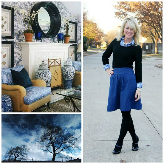 Hi Sugarplum | Black & Blue Outfit Inspiration