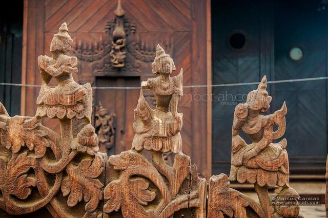 Shwe In Bin (wooden teak) monastery