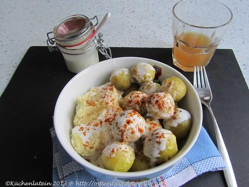 Rosenkohl mit Stampfkartoffeln & Ziegenkäse