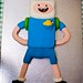 Finn the Human birthday cake by poppet with a camera