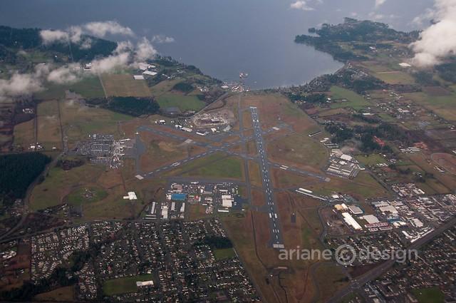Helijet/approaching Vancouver Island