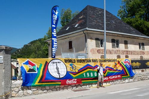 Stolen 1990 MTB World Championships banner