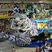 White tiger coming, Rio de Janeiro Carnival Sambodrome