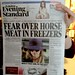 Fear over horse meat in freezers