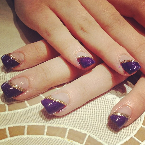Purple Nail Designs For Prom: Roosa's Prom Nails ^_^ Enjoy Honey! #prom #nails #purple