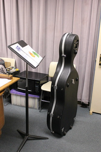 11:32 AM: A 'cello appeared in my office while I wasn't looking