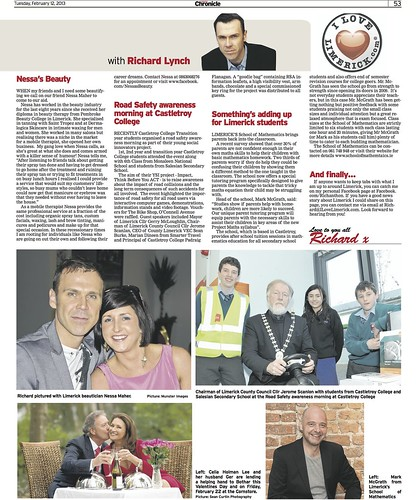 Limerick Chronicle Column 12 Feb 2013