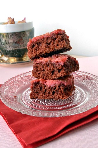 red velvet gooey butter bars
