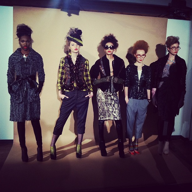 #gorgeous #ByronLars #NYFW #fall2013 #models #fashion #photoshoot #nyc