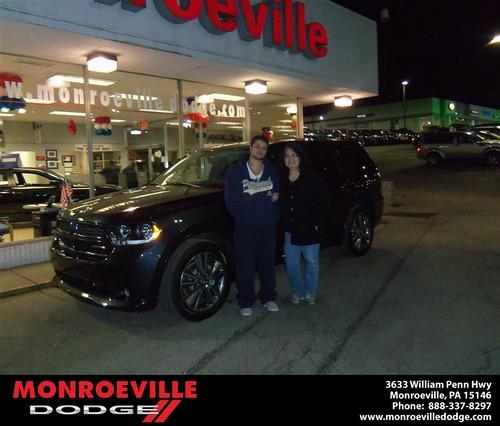 Congratulations to Angela Vergos on the 2013 Dodge Durango by Monroeville Dodge