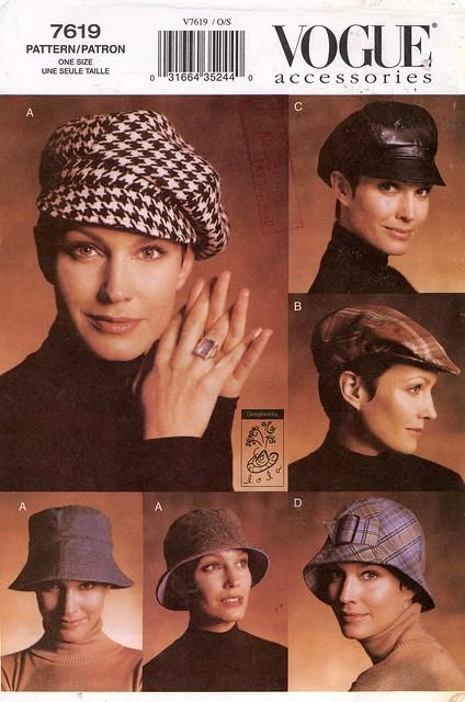 Vogue 7619 hat pattern