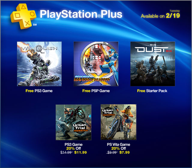 PS Plus Update 2-19-13