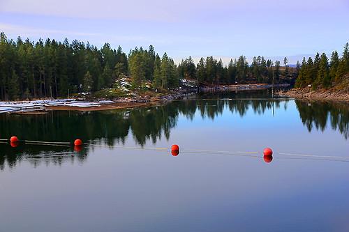 Spokane River from Post Falls, Idaho