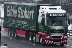 MAN TGX 26.480 XXL 6x2 Tractor - Y23 WSH - Mollie Ann - 2009 - Green & Red - Eddie Stobart - M1 J10 Luton - Steven Gray - IMG_2043