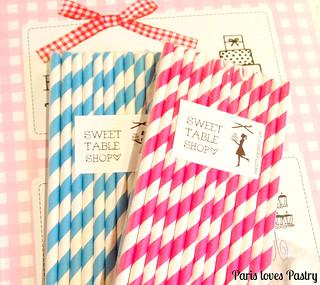 Swirled Paper Straws