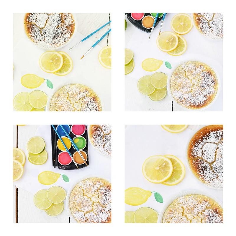 коллаж лимонно-лаймовое суфле