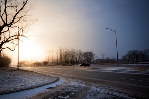 snow sunrise canon illinois snowy lakestreet bloomingdale 500d rodde t1i kevinrodde kevinroddephoto kevinroddephotography
