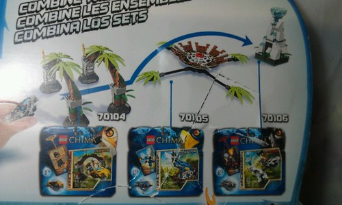 LEGO Legends of Chima 70104, 70105, 70106 Combined