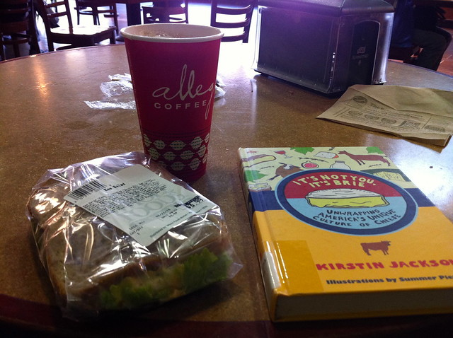 Lunch, coffee, book