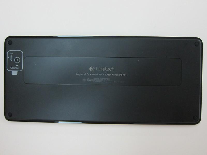 Logitech Bluetooth Easy-Switch Keyboard - Back View