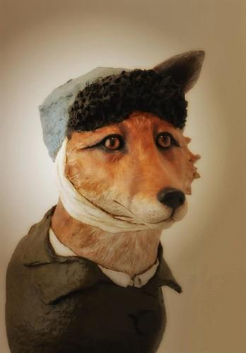 papier-mâché-fox