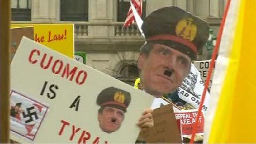 Gun Rally Hitler Poster