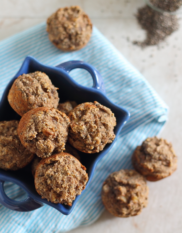 Paleo banana chia bites are a healthy, grain-free snack. Make a batch and enjoy all week!