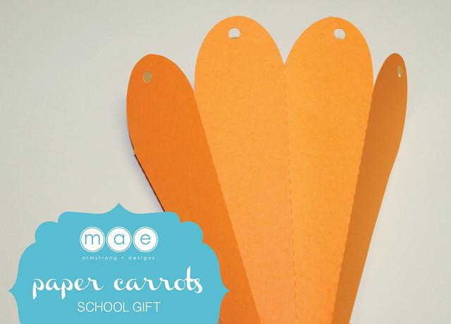 Paper Carrots - School Gift2