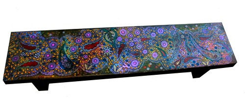 "16"" W x 16"" H x 72"" Bench/Coffee Table by Rick Cheadle Art and Designs"