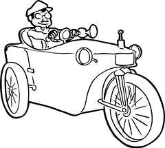 line art, wheel, vehicle, coloring book, cartoon, illustration, black-and-white,