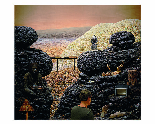 The Lost Frontier, 1997-2005, by Llyn Foulkes. Hammer Museum, Los Angeles