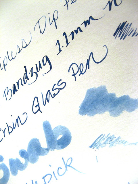 Dip nibs, R&K Blau Permanent, Clairefontaine Graf it