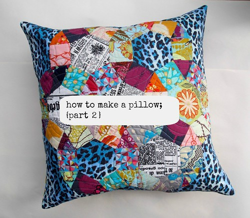 how to make a pillow {part 2}