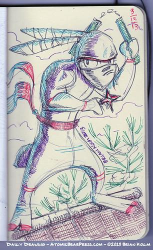 3-13-2013 Ninja Bunny